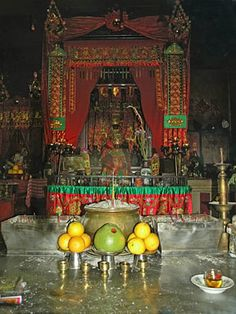 photos of buddhist alters | Painet Licensed Rights stock photo of buddhist altar offerings fruit ...