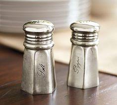 Antique-Silver Salt & Pepper Shakers #potterybarn