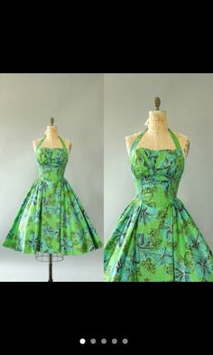 Vintage 50s Hawaiian Dress by Alfred Shaheen.
