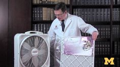 Dr. Jeffrey E. Terrell, director of the Michigan Sinus Center, demonstrates how to build an air purifier with a HEPA filter for about $25 with parts from you...