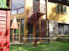 Spiral Staircase in Villamont Blue Ridge Va.  by Appalachian Ironworks