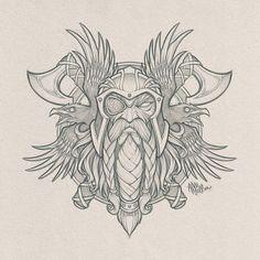 odin tattoo design & odin tattoo + odin tattoo vikings + odin tattoo sleeve + odin tattoo symbols + odin tattoo design + odin tattoo vikings norse mythology + odin tattoo for women + odin tattoo mythology Norse Mythology Tattoo, Norse Tattoo, Celtic Tattoos, Viking Tattoos, Axe Tattoo, Armor Tattoo, Wiccan Tattoos, Inca Tattoo, Indian Tattoos
