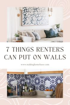 How to Decorate Blank Walls 7 Ideas for Renters Removable Backsplash, Picture Frame Molding, Removable Wall Murals, Rental Decorating, Empty Wall, Traditional Wallpaper, Blank Walls, Wall Treatments, E Design