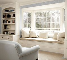 Bay Window Seat. Love this!-- must do this