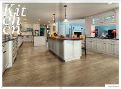 Wood-look tiled floor