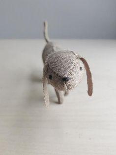 Winzig Welpen / Soft Skulptur Tier / wenig braun Hund