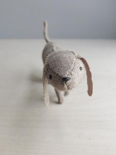 poky puppy / soft sculpture animal / little brown door ohalbatross, $56.00