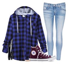 """YOUTH GROUP ❤️"" by dejonggirls ❤ liked on Polyvore featuring rag & bone/JEAN, Converse, Lancôme and Michael Kors"