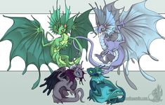 Fae Dragons by ~neondragon on deviantART