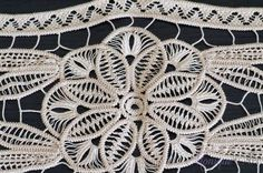 Cream point lace crochet