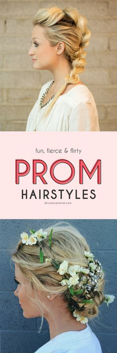 Ditch the overpriced, overprocessed prom hairstyles this year. We've rounded up 20 of the trendiest formal hair looks. Prom Hairstyles, Down Hairstyles, Popular Hairstyles, Pretty Hairstyles, Braided Hairstyles, Braided Updo, Head Band, Golden Blonde Hair, Messy Braids