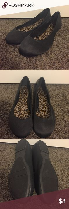 Black Ballet Flats Black ballet flats are the perfect basic for work or fun! Fabric upper and plastic soles. Shoes Flats & Loafers