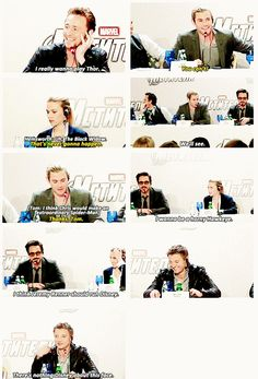 """The Avengers cast, hilarious! I think the best part is when Jeremy Renner says, """"There's nothing Disney about this face."""" I love them!"""