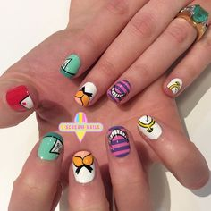 Amazing Alice in Wonderland nails by Deb!  We have apts available in both Melbourne and Sydney today! Xo #melbournenailart #sydneynailart #iscreamnails