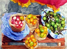 Heins Rosario - Pintores Colombianos - Colombia.com Painting, Art Fair, Art Activities, Rosaries, Cartagena, Painting Art, Paintings