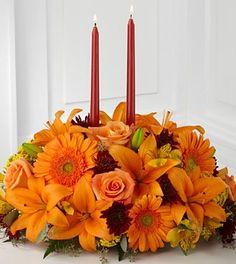 The FTD® Bright Autumn™ Centerpiece- Premium