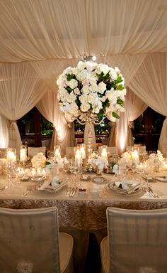 Beautiful white and gold decor