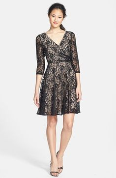 Maggy London Lace Faux Wrap Dress | Nordstrom for the holidays :)