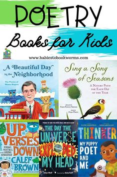 Babies to Bookworms shares a list of fun poetry anthologies for kids! From silly space stories to the wisdom of Fred Rogers, everyone can enjoy poetry! Teaching Poetry, Teaching Kids, Toddler Books, Childrens Books, Learning Activities, Activities For Kids, Kindergarten Learning, Preschool, Poetry Books For Kids