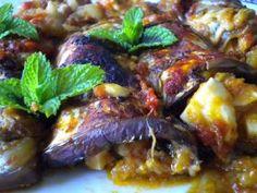 Eggplants Stuffed with Salami   and Cheese  #heritage