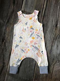 Baby Harem Romper Floral Baby Romper Baby Romper  Floral