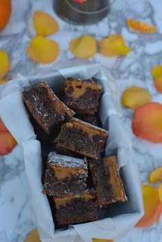 SugarTam Blog de Postres: Brownie de Chocolate y Calabaza Brownies, Chocolate, Desserts, Blog, Pumpkins, Crack Cake, Deserts, Cake Brownies, Postres
