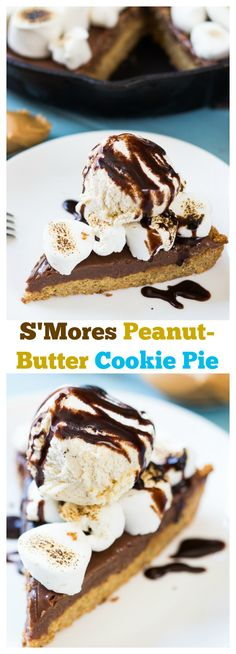 ... mores peanut butter cookie pie this s mores peanut butter cookie pie