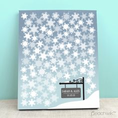 Winter wedding inspired drop top guest book. A fully bespoke ...