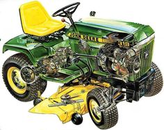 Learn more about John Deere Diesel engines. John Deere engineers have created some of the most effective diesel engines for several industries John Deere 318, John Deere Shop, John Deere Lawn Mower, Tractor Mower, Tractor Parts, John Deere Garden Tractors, Jd Tractors, Small Tractors, Craftsman Lawn Mower Parts
