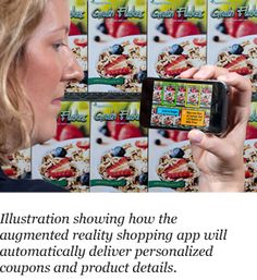 IBM augmented reality shopping app will automatically deliver personalized coupons and product details.