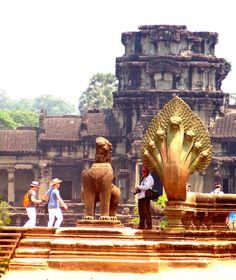 Naga - Entrance to Anghor Wat - Cambodia