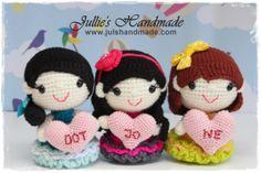 3 Best Friends Forever.  #dolls #crochet #amigurumi #gift #friends #craft #handmade #julshandmade #singapore