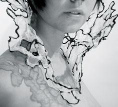 Cheryl Eve Acosta | Healing neckpiece | fabric + copper