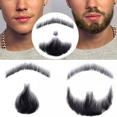 Beard for man fake 100% perfect  Price: 22.80 & FREE Shipping    #tattooed #man #malemodel Beard Makeup, Male Makeup, Beard Oil Kit, Grey Hair Dye, Beard Conditioner, How To Remove Pimples, Beard Humor, Long Hair With Bangs, Beard Care