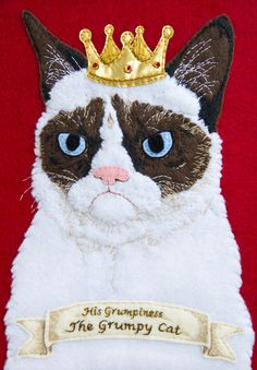 Grumpy Cat Embroidery | Community Post: 20 Awesome Internet Meme Crafts
