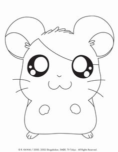 Hamtaro color page. Cartoon characters coloring pages. Coloring pages for kids. Thousands of free printable coloring pages for kids! Easter Coloring Pages, Cute Coloring Pages, Cartoon Coloring Pages, Animal Coloring Pages, Printable Coloring Pages, Coloring Books, Coloring Sheets, Hamtaro, Kids Cartoon Characters