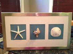DIY seashell shadowbox