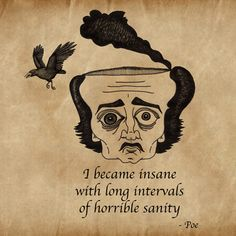 """Consegui meu equilíbrio cortejando a insanidade..."""