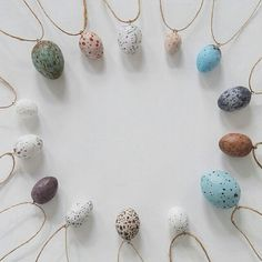 Bird egg necklace. Air drying clay! Pinned from instagram by Charming Creatures