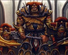 Thousand Sons Primarch Magnus the Red with his elite honour guard, the Sekhmet, wearing Cataphractii Pattern Terminator Armour Warhammer 40k Art, Warhammer Fantasy, Eternal Crusade, Sisters Of Silence, Thousand Sons, The Horus Heresy, Space Marine, Dieselpunk, Emperor