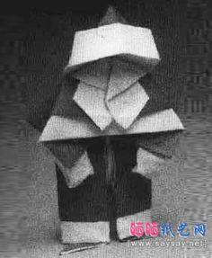 father christmas santa claus origami tutorials graphic