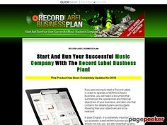 awesome RECORD LABEL BUSINESS PLAN