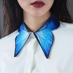 Estilo Fashion, Look Fashion, Fashion Details, Diy Fashion, Ideias Fashion, Fashion Dresses, Fashion Design, Wing Collar, Collar And Cuff