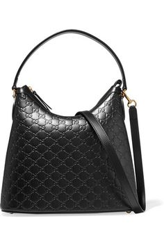 GUCCI Linea A Hobo Embossed Leather Bag.