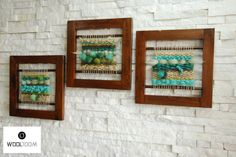 Trio The Forest - Trio El Bosque - Hand woven wall hanging // weaving // telar decorativo made by WooL LooM Weaving Textiles, Weaving Art, Loom Weaving, Tapestry Weaving, Hand Weaving, Diy Art Projects, Weaving Projects, Weaving Wall Hanging, Woven Wrap