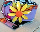 Boutique Flower Power Belt in Peter Max Inspired Fabric