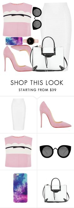 """Untitled #936"" by anyierojas ❤ liked on Polyvore featuring Jonathan Simkhai, Christian Louboutin, Giambattista Valli, Quay and Balenciaga"