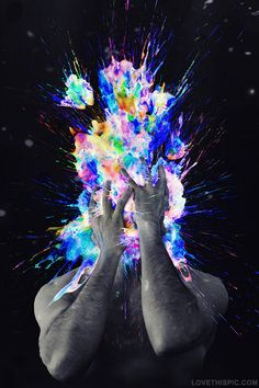 abstract splash photography colorful art cool weird artistic guy