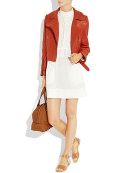 MIH Jeans dress, Carven jacket, See by Chloe shoes and Chloe bag.