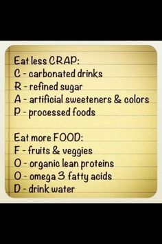 Healthy rules to live by... evakempf   http://media-cache3.pinterest.com/upload/136585801168920753_pZ003UYo_f.jpg